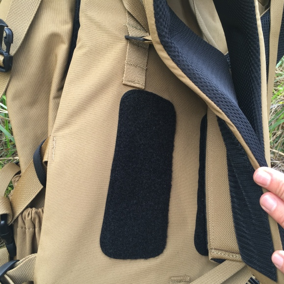 Shoulder strap location is adjustable to fine tune fit.