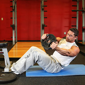Alternate Twisting to Each Side (Photo Courtesy bodybuilding.com)