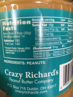 This Peanut Butter Contains Peanuts and Nothing Else.