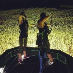 Typical Night Fishing Setup (Photo Courtesy of Hailey Dulaney Facebook Page)