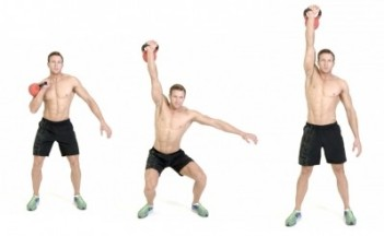 The Kettlebell Jerk Press is Another Full Body Exercise That Could Help you This Fall. Photo Courtesy of menshealth.com