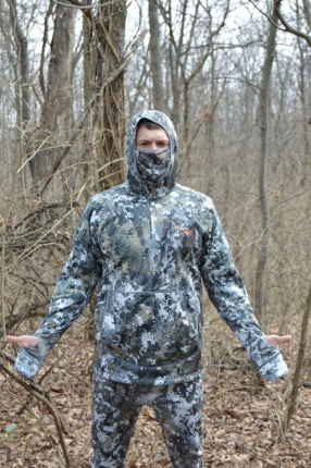 Two Nifty Features of the Fanatic Hoody Incuded the Ability to Turn the Sleeves into Mittens and the Built in Facemask.
