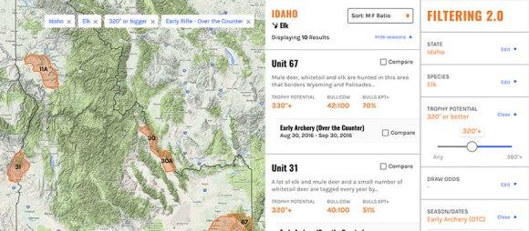 Filtering_Idaho_OTC_Elk